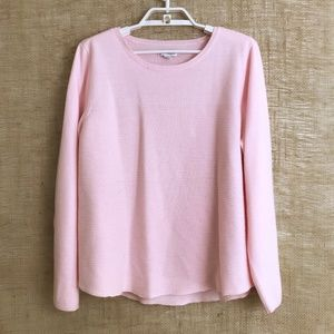 Soft & Cozy Pastel Pink Ribbed Sweater Size XL